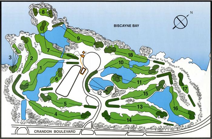 Crandon Golf course layout
